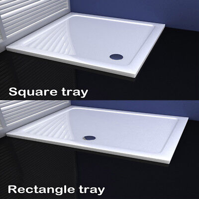 30/40mm slimline shower enclosure tray square rectangle stone tray free waste