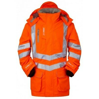 High-Visibility Waterproof Orange Jacket Fluorescent Coat Orange Hi Viz Pulsar