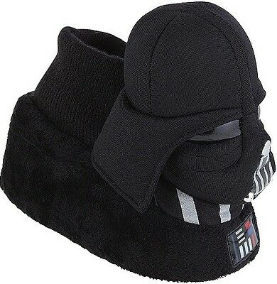 Star Wars The Force Awakens Lord Darth Vader Plush Sock Top Slippers 9-10 Disney
