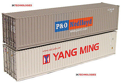 Graham Farish 379-362A N Gauge 2 x 40ft Container Set P&O Nedlloyd/Yang Ming 1st