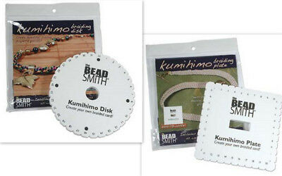 Kumihimo Braiding Disks - with Instructions & Designs - round, square & mini.