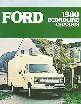 1980 Ford Econoline Chassis Brochure (Usa)
