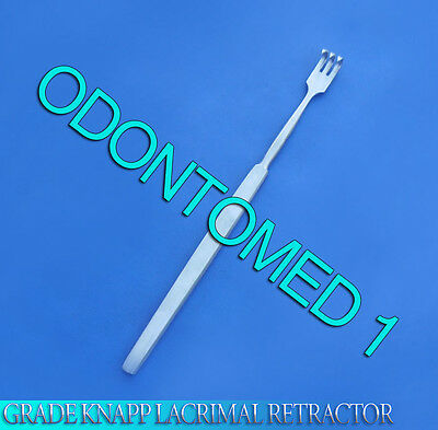 O.r Grade Knapp Lacrimal Retractor 3 Prongs Sharp Ophthalmic Instrument