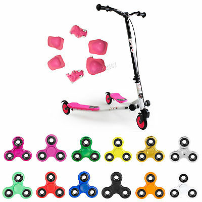 Pink 3 Wheel Mini Swing Tri Slider Motion Winged Push Scooter For Kids Drifter