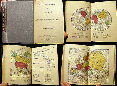 1857 Mitchell's Atlas Manual Of Geography Color Maps