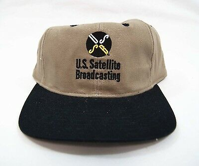 Vintage 1993 USSB U.S. Satellite Broadcasting Company Hat 1st US SATELLITE TV