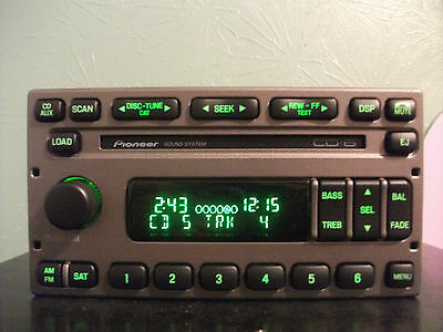 Ford Pioneer factory AM FM 6 disc CD player radio 04 05 06 4L2T-18C815-AB