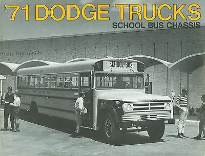 1971 Dodge Trucks School Bus Chassis Brochure (Usa)