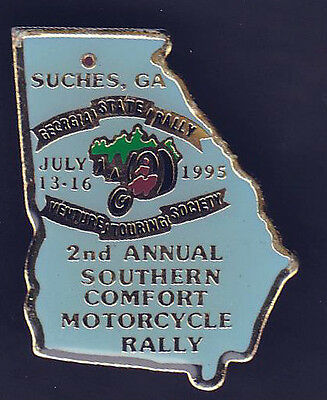 2nd Annual Southern Comfort Motorcycle Rally Pin July 13-16, 1995 Suches Georgia