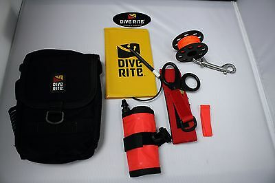 Dive Rite - Divers Essential SMB Package with Spool Knive Thigh Pocket Note Book