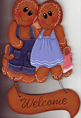 """PAINTED...Gingerbread..""""WELCOME'...Home Decor"""