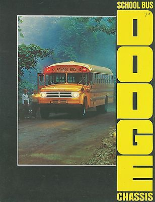 1969/70 Dodge School Bus Chassis Brochure (Usa)