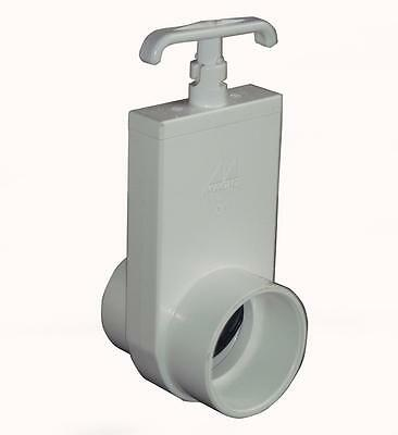 "2"" Pvc Slide Gate Valve Koi Pond Filter Pipes Pump - Next-Day Delivery Available"