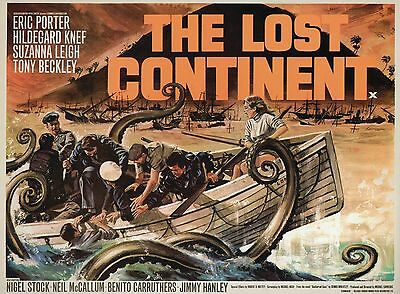 The Lost Continent - Hammer Horror - A4 Laminated Mini Poster