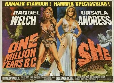 One Million Years B.C/She - Raquel Welch - A4 Laminated Mini Poster
