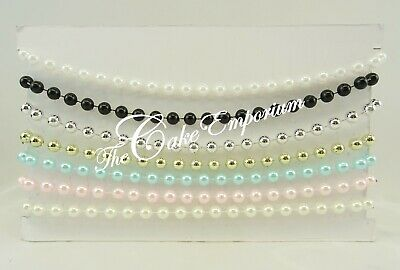 4mm, 5mm, 8mm  STRUNG PEARL BEADS 1 & 2 METRES VARIOUS COLOURS