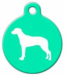 RIDGEBACK SILHOUETTE - Custom Personalized Pet ID Tag for Dog and Cat Collars