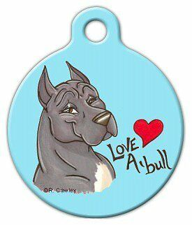 LOVE A PITBULL - Custom Personalized Pet ID Tag for Dog and Cat Collars