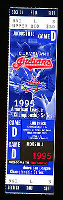 1995 ALCS Game 7 Ticket - Seattle Mariners @ Cleveland Indians