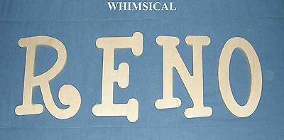 "Unpainted Wooden Wall Letters 8"" size ALL CAPITALS Name Decor Select a Font"
