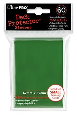Ultra Pro Deck Protector Sleeves x60 - Small - Green (for Yu-Gi-Oh etc.)