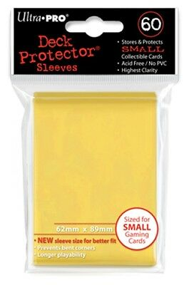 Ultra Pro Deck Protector Sleeves x60 - Small - Yellow (for Yu-Gi-Oh etc.)