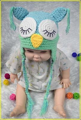 Fashion Cute Baby Boy/Girl/Toddler Owls Knit Crochet Hat Beanie Clothes Cap MEL