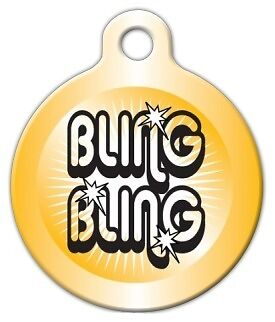BLING BLING - Custom Personalized Pet ID Tag for Dog and Cat Collars