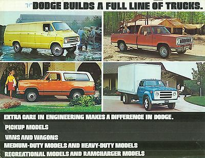 1974/75 Dodge Truck Range Brochure (Usa)