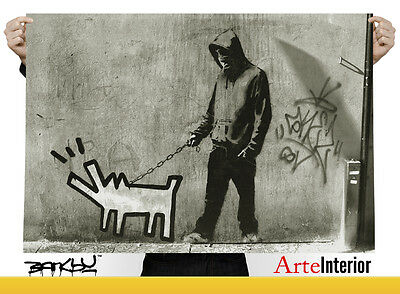 Banksy - Choose Your Weapon (Haring Dog) - WALL ART POSTER HQ
