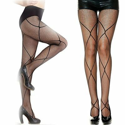 Black Fishnet Pantyhose Net Stockings Fancy Dress Burlesque Halloween Tights