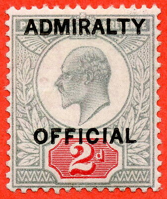 SG. 0104. MO33. 2d Yellowish green & Carmine red. Admiralty Official type 1.