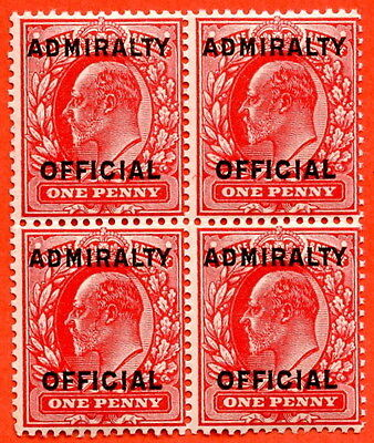 SG. 0108. MO37. 1d scarlet. Admiralty Official Type II. UNMOUNTED MINT
