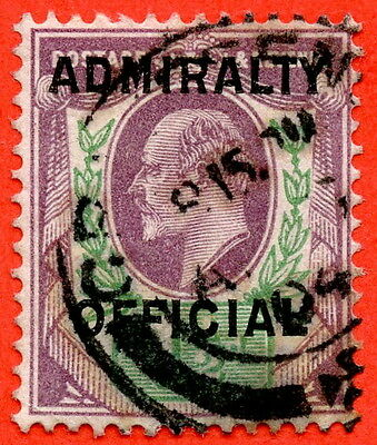 SG. 0109. 1½d Dull purple & green. Admiralty Official Type II. A Very fine used.