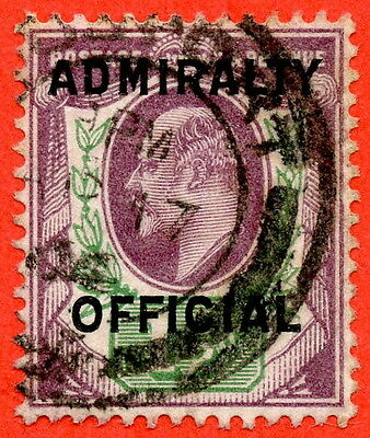 SG. 0109. 1½d Dull purple & green. Admiralty Official Type II. A Very fine used