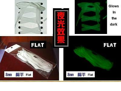 """Glows In The Dark Laces 47"""" Inch 120Cm Shoelaces Made In Taiwan"""