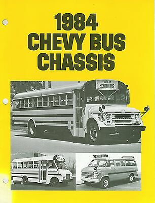 1984 Chevrolet Bus Chassis Brochure (Usa)