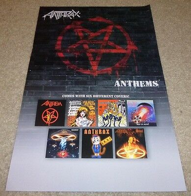 ANTHRAX ANTHEMS ALBUM ORIGINAL PROMO POSTER 11x17 inches 6 COVERS PICTURED