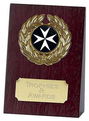 "ST JOHNS AMBULANCE Wooden Wedge Trophy 4"" or 5.25"" FREE ENGRAVING Award New"