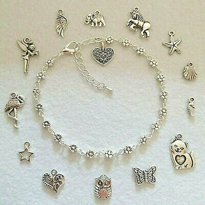 NEW Stylish Daisy Chain Flower Boho Anklet Ankle Bracelet Personalise With Charm