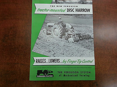 Harry Ferguson Tractor Ferguson DISC HARROW sales brochure ORIGINAL1950