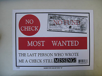 "Funny Humorous Plastic Sign PLEASE LEAVE YOUR ADDRESS......12/""  X  9/"" #32659"