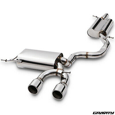 Stainless Steel Cat Back Race Exhaust System For Vw Golf Mk5 R32 3.2 Vr6 03-09
