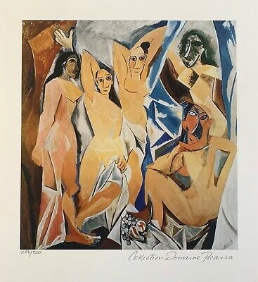 Pablo Picasso WOMEN OF AVIGNON Estate Signed Limited Edition Small Giclee Art