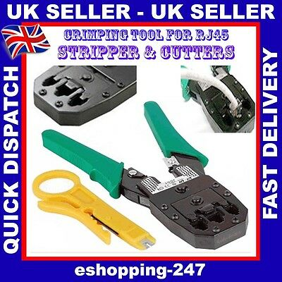 Network RJ45 RJ11 Crimping Crimp Tool Crimper Cable Cutter Plier Stripper C036