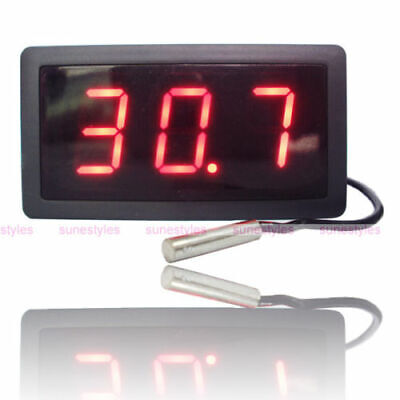 Large Digital Thermometer Temperature Meter Gauge Probe AC 220V -30C 300C NCT220