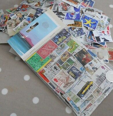 50  Mixed Vintage GB Commemorative Stamps (Ideal For Altered Art & Crafts)