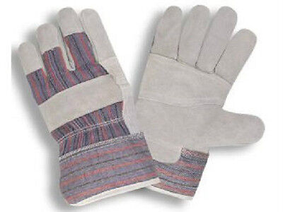 120 Pair Split Reinforced Leather Palm Work Gloves Large - L New Pairs