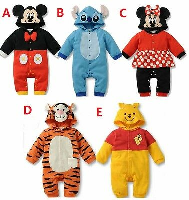 New Baby Boys Girls Animal Costume Romper One Piece Outfit Clothes Size 00,0,1