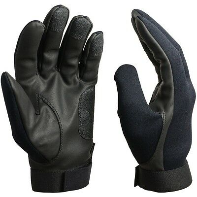 Black NEOPRENE ASSAULT GLOVES - All Sizes - Cold / Wet Weather Military Army New